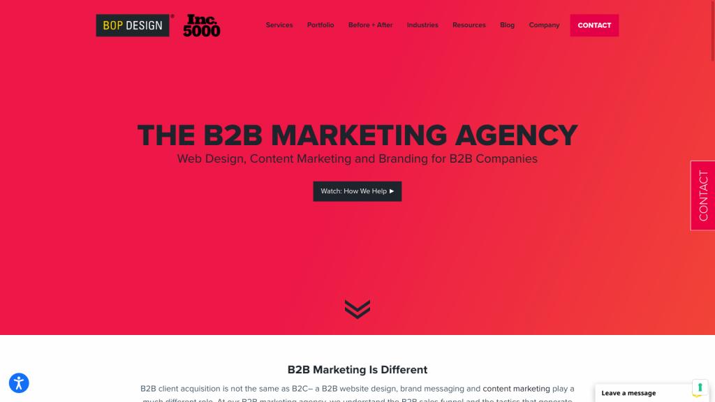 Bop Design Homepage