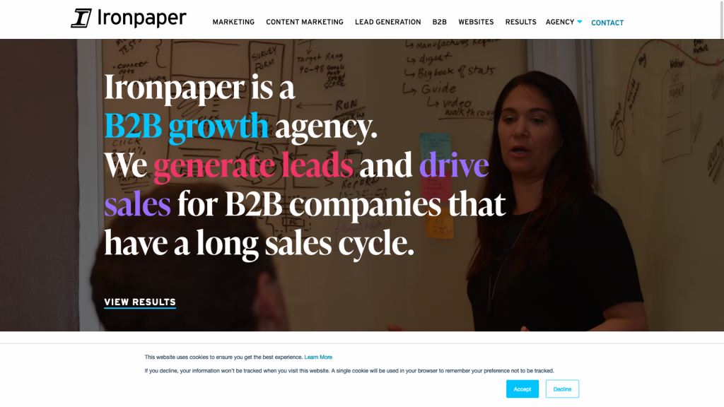 Ironpaper homepage