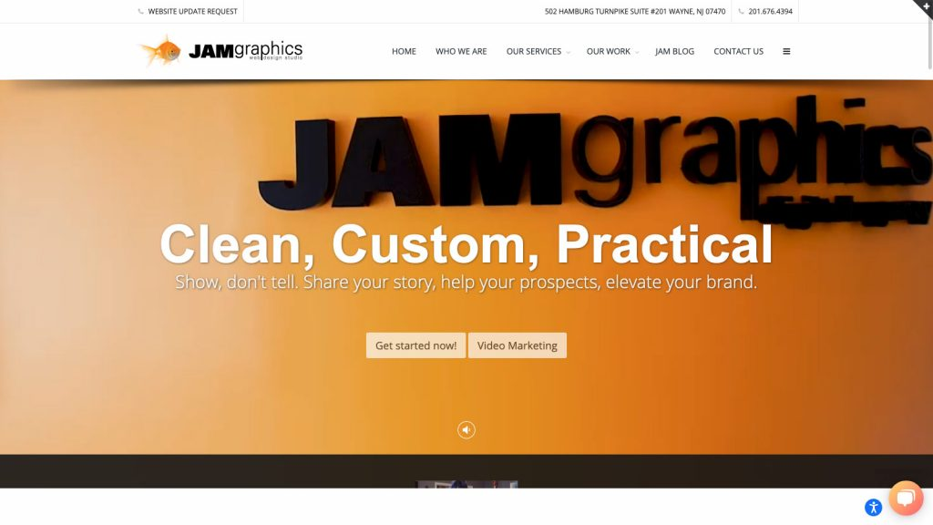 JAM Graphics homepage