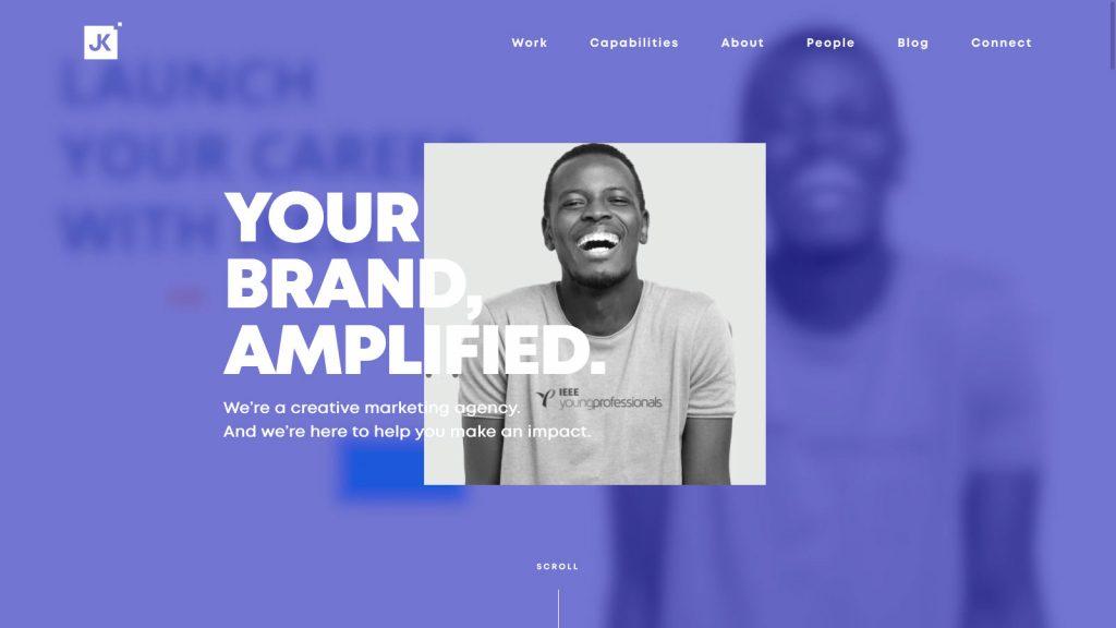 JK Design homepage