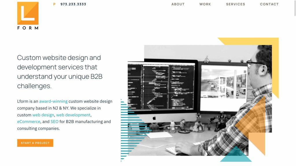 Lform Design homepage