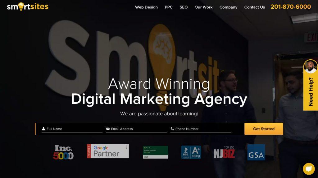 Smart Sites Homepage