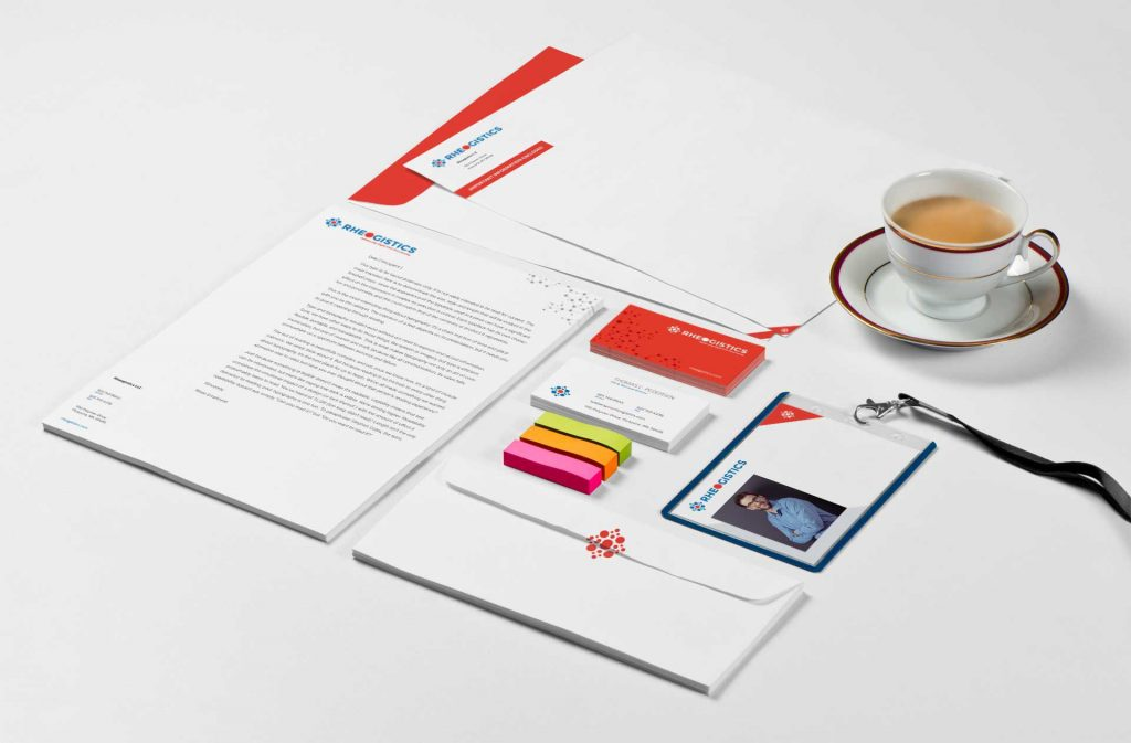 Rheogistics stationary and letter head