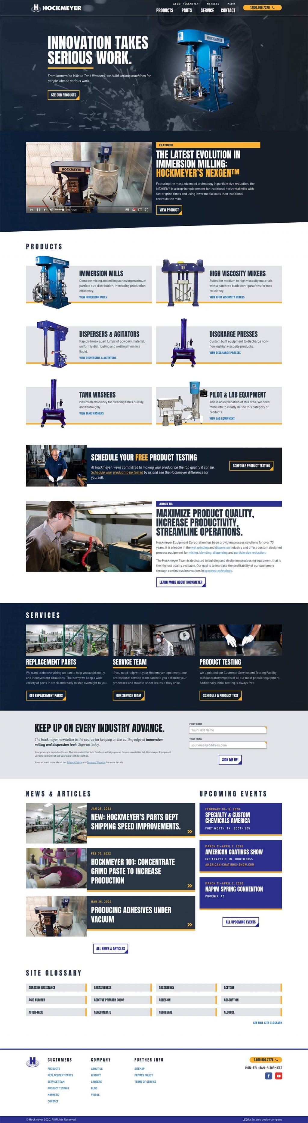 Homepage of Hockmeyer Equipment Corporation