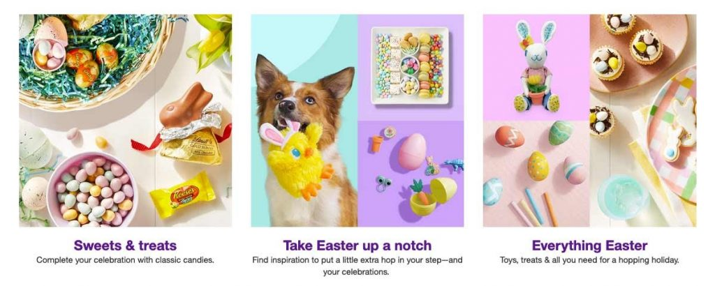 dogs playing with easter toy