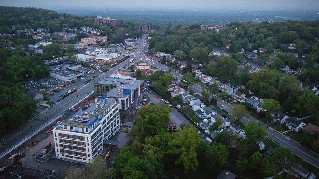 Drone View of West Orange & Montclair, NJ