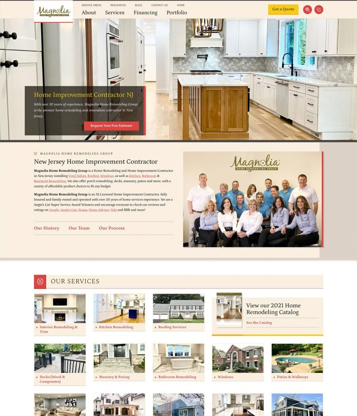 Magnolia Home Remodeling Group Homepage, After