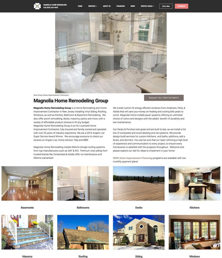 Magnolia Home Remodeling Group Homepage, Before