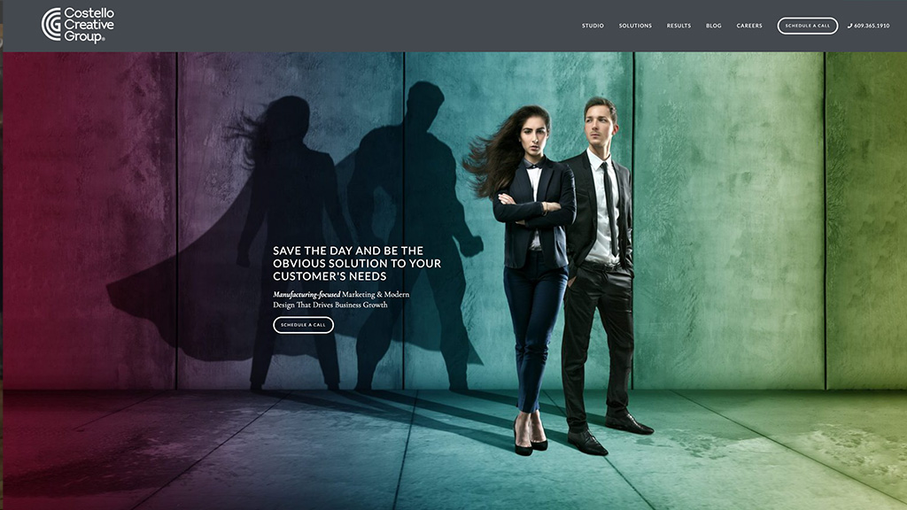 Costello Creative Group homepage