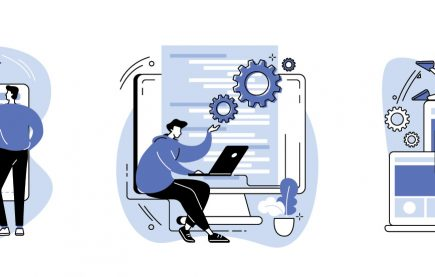 Illustration of Front and and Back End Web Development